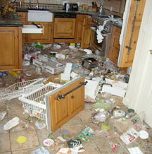 kitchen damage, Snowmas