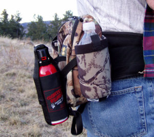 wearing Counter Assault bear spray