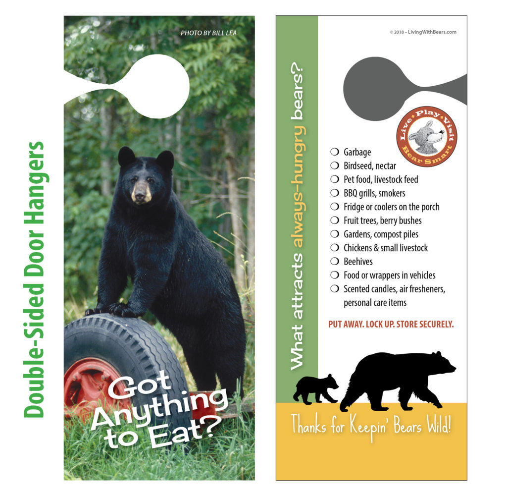 Bear Smart door hanger