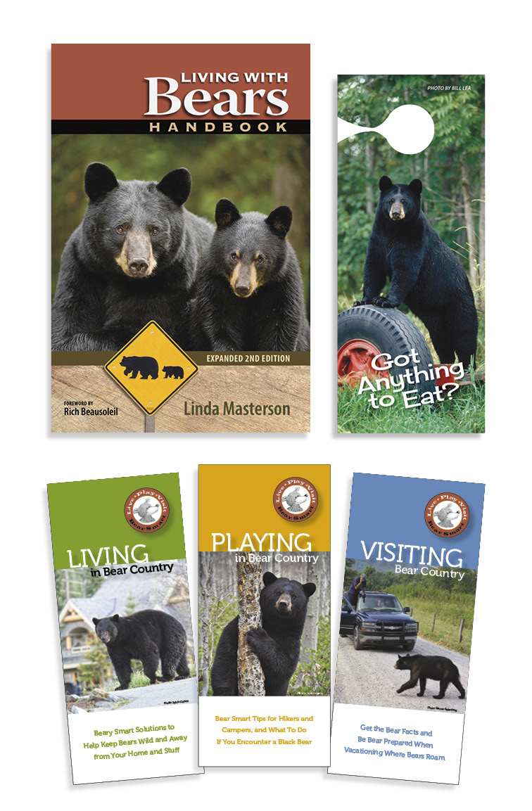 Living With Bears Handbook and pocket guides and doorhanger
